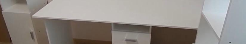 Сборка двойного детского письменного стола Лайт-11 и стеллажей Лайт-1